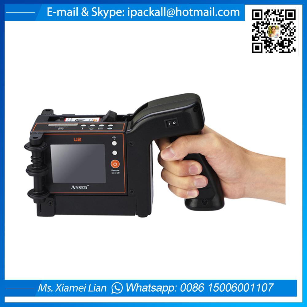 Anser U2 Mobile Handheld Carton Inkjet Printer