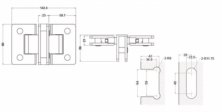 Brass Adjustable Shower Door Hinges For Sale,Folding Shower Door Hinges Custom Export Supplier