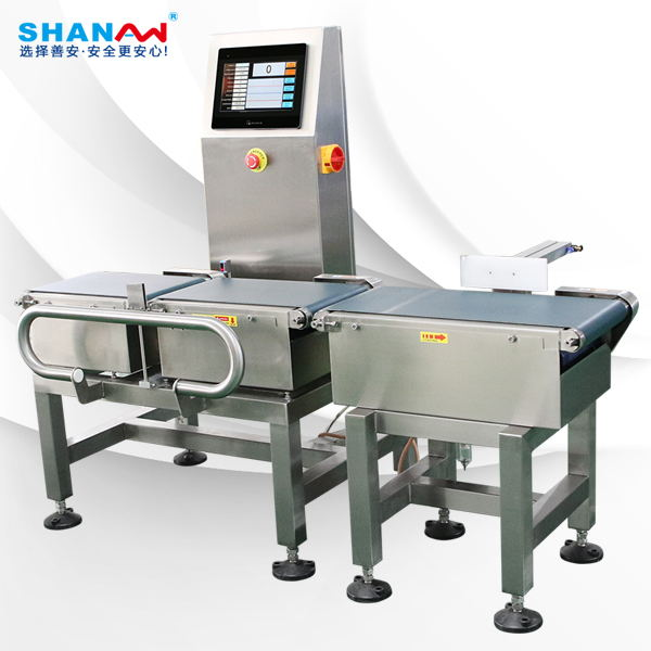 Sorting checkweigher for food