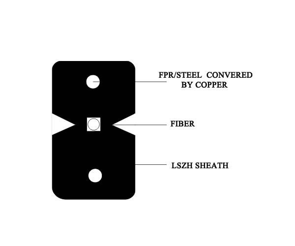 FTTH Drop Cable 1 Fiber GJXFH/GJXH