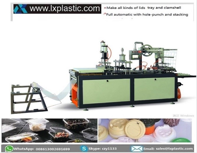 Nv500 Min 3in1 thermoforming machine with steel-rule-knife