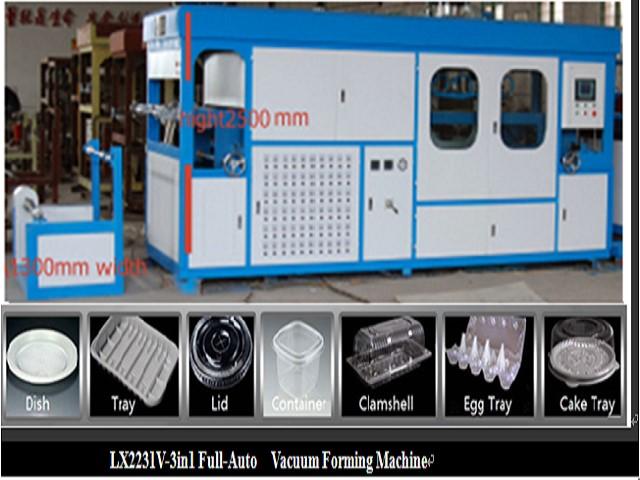 LX2231V H 3in1 vacuum forming machine