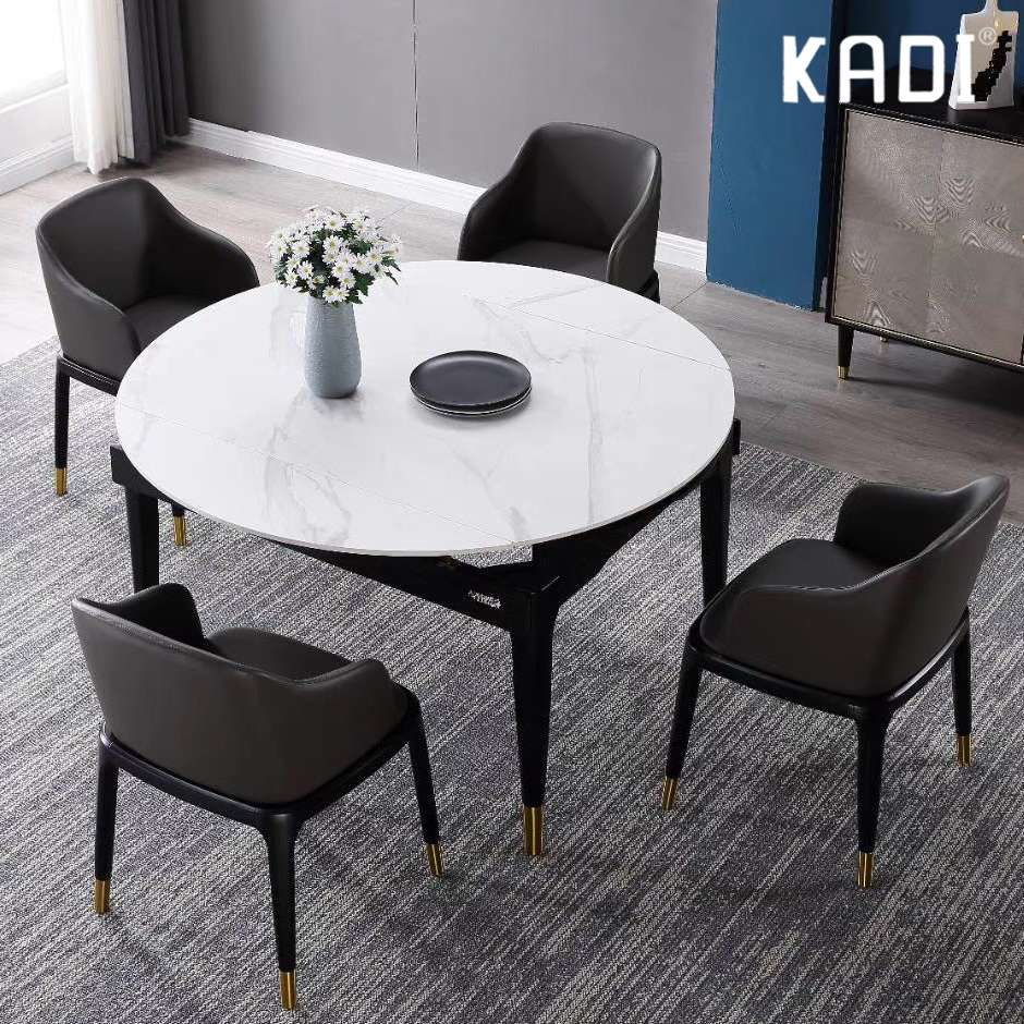 9 high quality modern marble dining table set