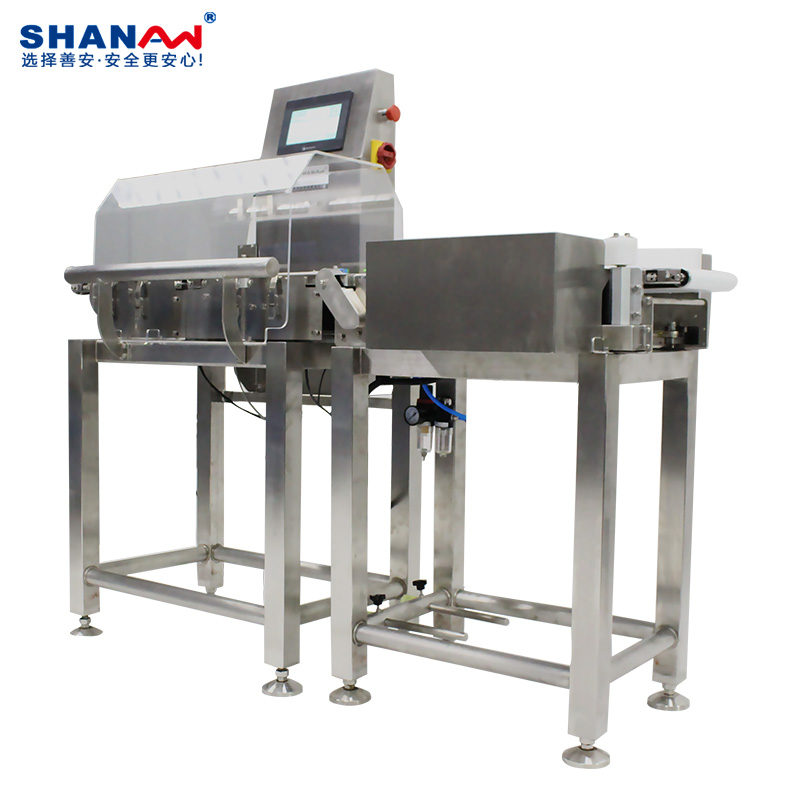 High precision online checkweigher for food