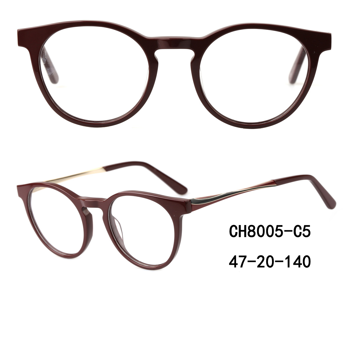 Round Acetate Optical Frames Oem Odm,Eyeglasse Spectacle Frames With Printing