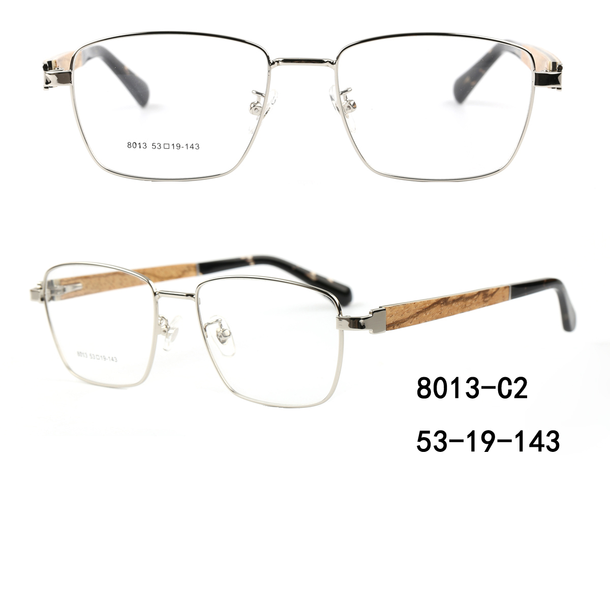 Square Metal Eyewear Frames Wholesale,Unisex Optical Acetate Frames Supplier