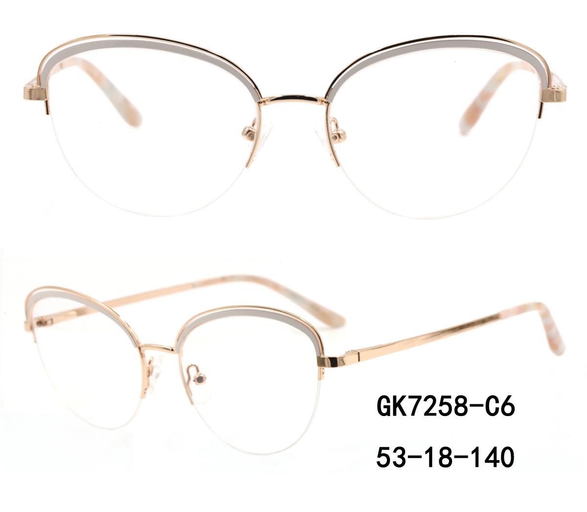 Round Metal Rim Optical Glass Frames Oem Odm Design For Sale
