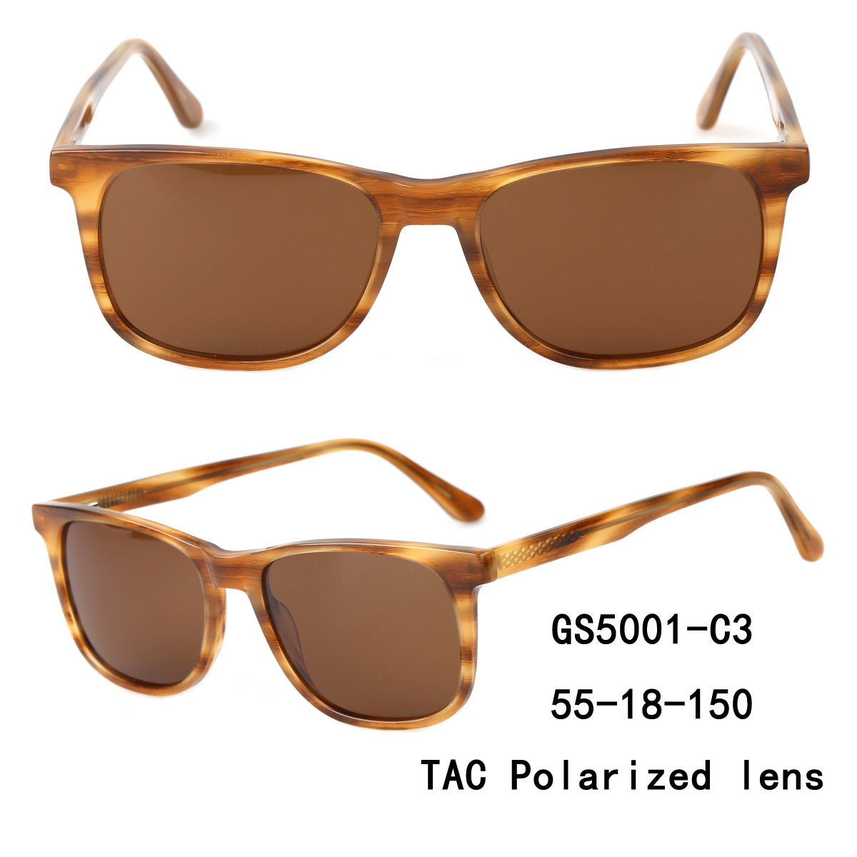 Oversized Round polarized Metal Sunglasses odm