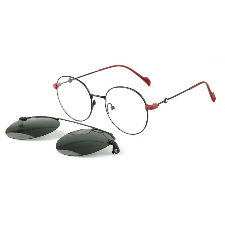Clip On Sunglasses On Round Eyewear Oem Odm Wholesale, Round Clip On Sunglasses