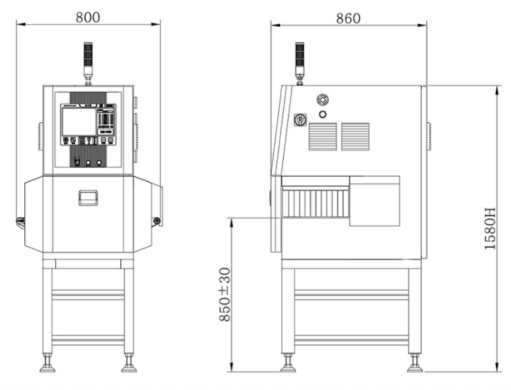 X-ray inspection machine for food, medicine, chemical industry manufacturer factory