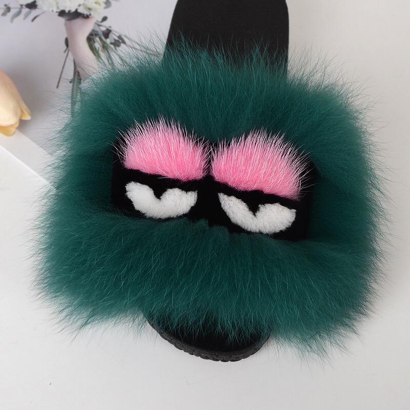 Summmer Pink Home Fur Slippers Eva  Sandles Bedroom Slippers