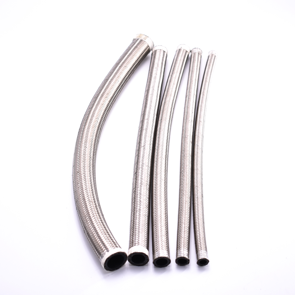 Stainless Steel Braided Hose Rubber Fuel Line Oil Cooler Hose for Car