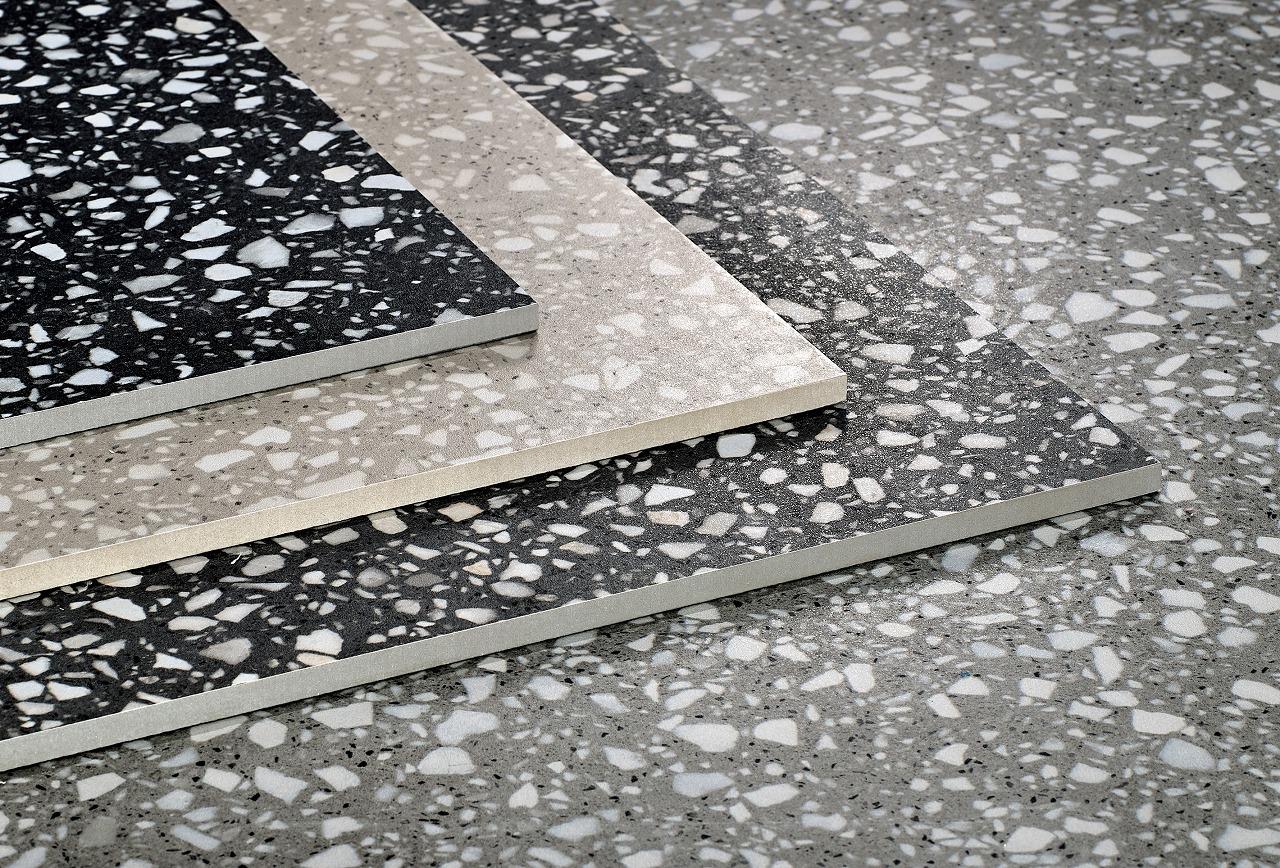 600X600 Rustic Nature Stone Glitter Look Matte Finish Terrace Floor Terrazzo Tile