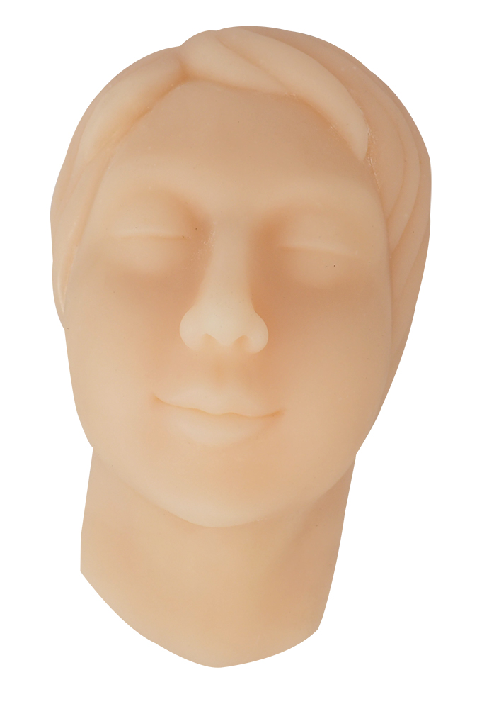 Soft Silicone Female Head Face With Bone Skin Suture Practice Model