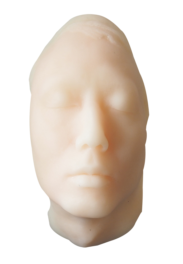 Human Male Face Realistic Head Mannequin Manikin Injection Training Suture Practice Model