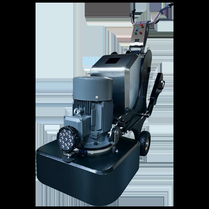 Semi-driven floor grinding machine