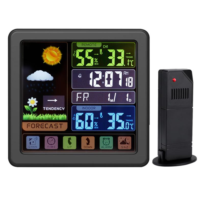Weather alarm clock