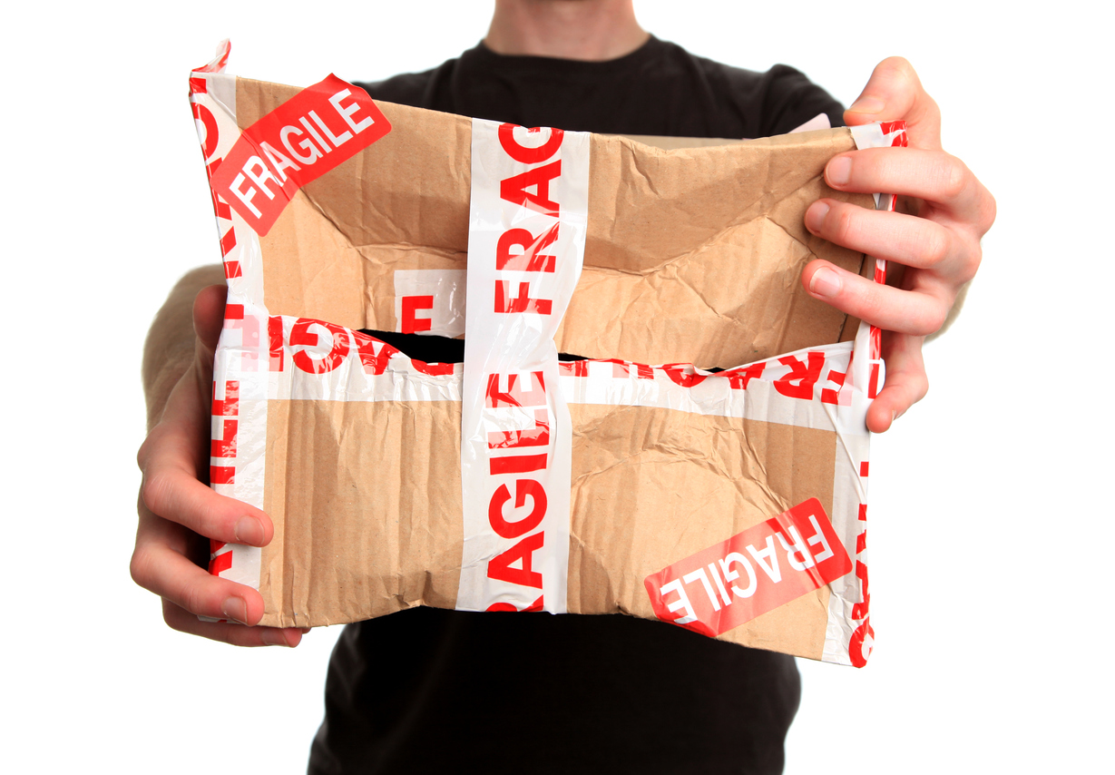 broken box packaging