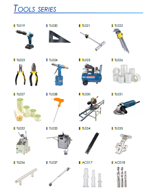 building construction tools and extruded profile