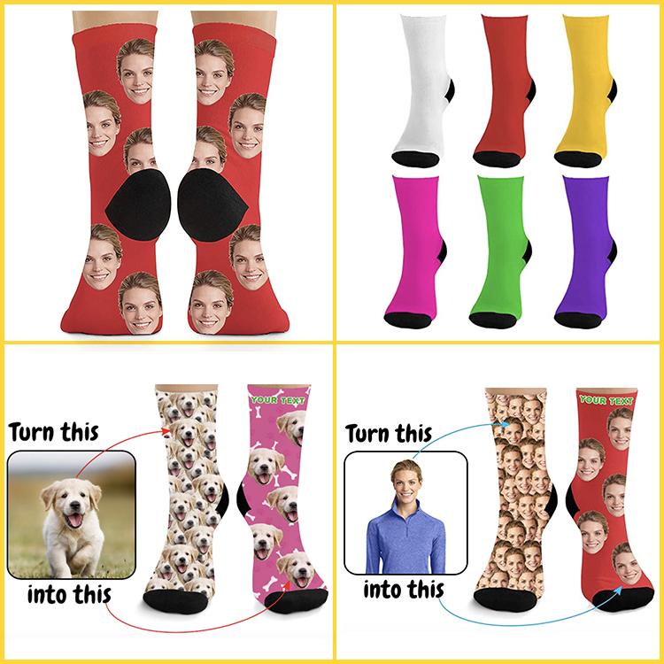 3D breathable,comfortable Custom Crew Socks