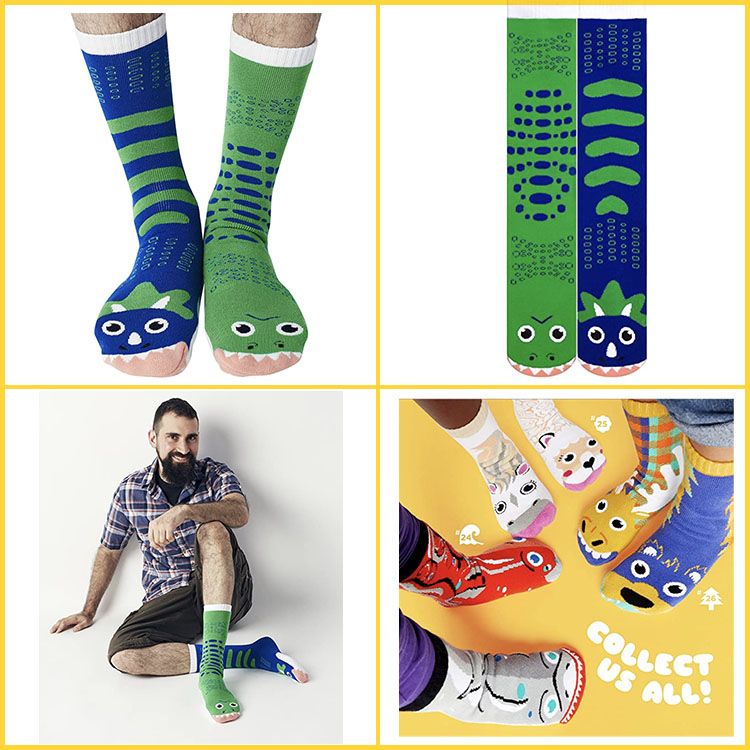 funny print Knitted crew sock