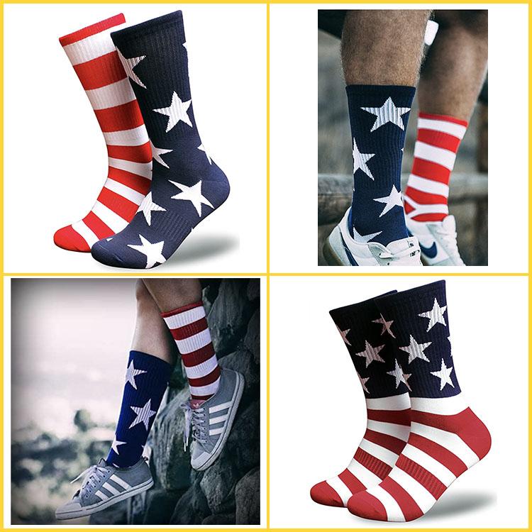 mismatched print sport socks