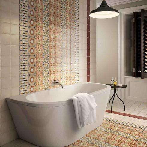Mosaic ceramics decorate Art wall